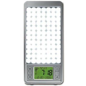 Lysterapilampe og solopgangssimulator i en og samme boks. Perfekt mod vinterdepression.