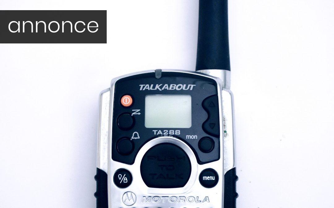 Kommuniker let og effektivt med walkie talkie